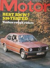 Motor magazine 7/2/1976 featuring BMW 316 road test