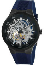 Kenneth Cole New York Men's  Automatic Skeleton Dial Watch w/ Blue Band 10022784