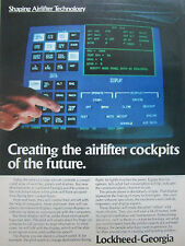 8/1980 PUB LOCKHEED SHAPING AIRLIFTER TECHNOLOGY COCKPIT PANELS DISPLAYS AD