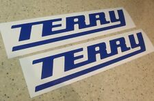 "Terry Vintage Bass Boat Decals 12"" 2-Pak 15 Colors! FREE SHIP + Free Fish Decal!"
