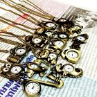 UPICK Vintage Bronze Retro Pocket Necklace Pendant Girl Lady Watch Quartz A1456