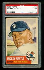 1953 Topps #82 MICKEY MANTLE Graded PSA 1 Nicely CENTERED Looks more like a 3
