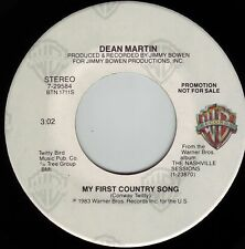DEAN MARTIN & CONWAY TWITTY My First Country Song ((**NEW 45 DJ**)) from 1983