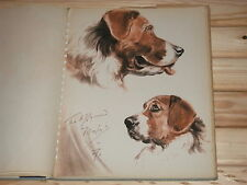 "DIANA THORNE VINTAGE DOG PRINT -  SAINT BERNARD "" MAYOR""  1944 PRINT"