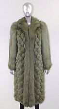 NEW CHRISTIAN DIOR HAUTE COUTURE GREEN FOX FUR LONG COAT WINTER COLLECTION - S M