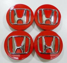 4pcs. Honda Civic Accord CRV Pilot 2002-2015 wheel center caps RED finish