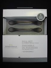 """6 Threshold Drawer Cabinet 3"""" Pull Handle Oil-Rubbed Bronze Finish (Total 1 Box)"""