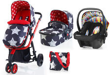 New Cosatto giggle 2 3 in 1 travel system in hipstar with go brightly car seat