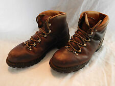 Raichle Brown Leather Hiking Mountaineering Boots Size 5.5 XN Vibram Distressed