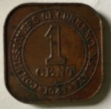 1941i Malaya KGVl 1 cent copper  old coin very high grade
