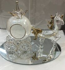 Cinderella Glass & Pumpkin Carriage And Horse