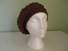 NEW MONSOON ACCESSORIZE LADIES PURPLE SOFT KNITTED RETRO BERET BOHO HAT