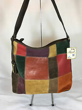 NWT Fossil Leather Cargo PWK Large Hobo Bag/Purse in Multi-Color
