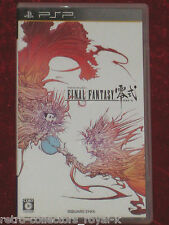 *Complete* PSP FINAL FANTASY TYPE-0 NTSC-J Japan PlayStation Portable Type Zero
