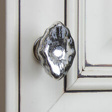 "231013-M - GlideRite Hardware 1-3/4"" Oval Mercury Glass Eye India Cabinet Knob"