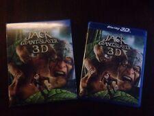 Jack the Giant Slayer 3-D (2D/3D Blu-ray 2013) Lenticular 3D Slipcover! LIKE NEW