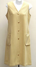 Vintage 1960s dress size 12 UNUSED crimped polyester Caprice SHOP SOILED