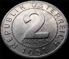 1951 AUSTRIA 2 GROSCHEN COIN HIGH GRADE..