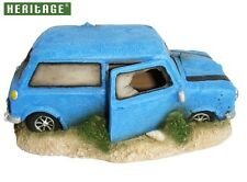 HERITAGE JQ037B AQUARIUM FISH TANK MINI COOPER ORNAMENT BUBBLER DECORATION BLUE