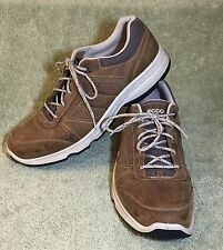 ECCO Receptor Tan Leather Sneakers Lace Up Hiking Trail Shoes Mens 44 10 10.5