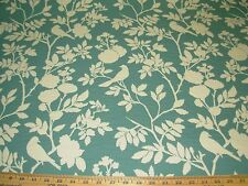 "~5 1/8 YDS~""BIANCA"" BIRDS ON BRANCHES~DOUBLESIDED UPHOLSTERY FABRIC FOR LESS~"