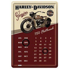HARLEY DAVIDSON calendario perpetuo con moto  in latta 10x14,5cm ufficiale