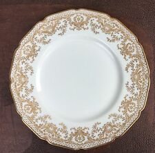 """Antique 1920's ROYAL DOULTON Gold Encrusted DINNER PLATE 10 3/8"""" Excellent!"""