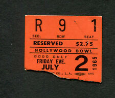 1965 Peter Paul & Mary Hollywood Bowl Concert Ticket Stub Puff The Magic Dragon
