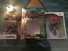 Zelda Twilight Princess Wolf Link Amiibo With Box And Wii Game