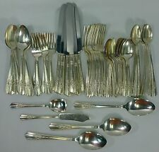 WALLACE silver MAYTIME silverplate 59-piece SET SERVICE for Eight (8) + Serving