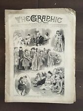 """""""THE GRAPHIC"""" (A Beautifully Illustrated British Weekly Newspaper)-Apr. 26, 1890"""