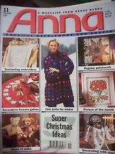 Anna Burda KNITTING  & Needlecrafts EMBROIDERY  Magazine #11  NOV 1997