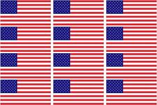 "American Flag Decal 12 - 2""x1.2"" US USA United States Hard Hat Helmet Sticker"