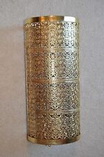 "18"" x8"" Vintage Ornate Gold/ Brass-Tone Filigree & Wire Mesh Cane-Umbrella Stand"