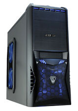 Cit Vantage Blue Mesh Gaming PC Case 4 Fans 3 Blue LED Card Reader