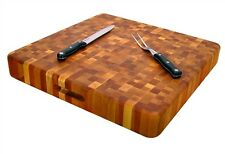 "Extra Large Cutting Board Butcher Block End Grain 20"" X 20"" Slab Kitchen Birch"