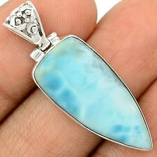 Larimar - Dominican Republic 925 Sterling Silver Pendant Jewelry SP196747