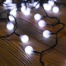 50 White Ball LED string lights Battery operated Outdoor or Indoor Smart Garden