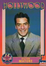 Victor Mature, Actor, Hollywood Star, Walk of Fame Trading Card --- NOT Postcard