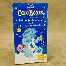 Care Bears VHS Tape Bedtime Care-A-Lot & Best Way to Make Friends Vintage 1988