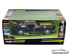 1967 Ford Mustang GT MAISTO MUSCLE Diecast 1:24 Scale Black FREE SHIPPING