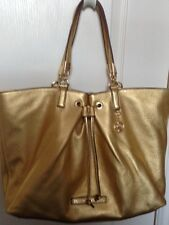 NWT Juicy Couture Robertson Leather  Tote Handbag,Gold