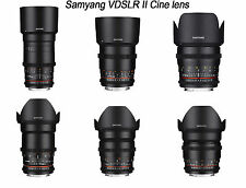 Samyang VDSLR II Cine lens kit for Canon -135.85.50.35.24.16mm -6pcs