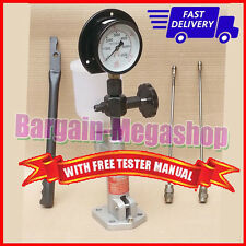 Diesel Injector Nozzle Pop Tester Dual Scale 6000 BAR/PSI Gauge