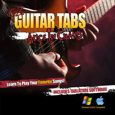 Guitar Lessons Alice In Chains Songs Learn How To play Tablature + Tab Software