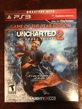 PS3 Uncharted 2 Among Thieves Game of the Year Edition Cardboard Sleeve New