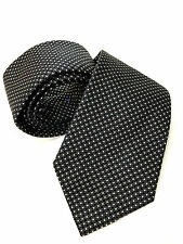 Paul Smith Black Tie 9cm Classic Blade 100% Silk Woven Made in Italy