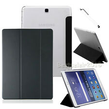 Black Slim PU Leather Cover Case For Samsung Galaxy Tab S2 9.7 SM-T810 T815 +Pen