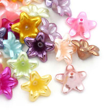 200pcs Acrylic Spacer Beads Flower 13x13mm