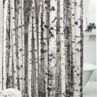 12 Hooks Tree Nature Shower Curtain Bathroom Decor Waterproof Fabric Polyester